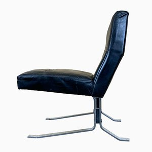 Leather & Chrome Conferstar Lounge Chair from Rudolf Horn, 1960s