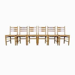 Oak Dining Chairs, 1960s, Set of 6