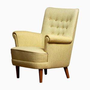Green Samsas Lounge Chair by Carl Malmsten for Oh Sjogren, 1950s