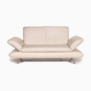 Cream Leather Rossini 2-Seat Sofa from Koinor