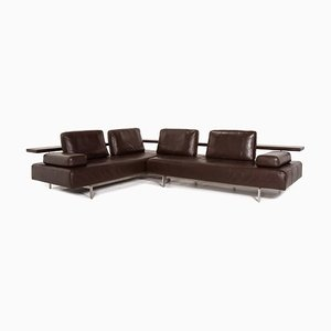 Dark Brown Leather Dono Corner Sofa from Rolf Benz