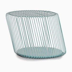 Mint Blue Metal Zag Coffee Table from Roche Bobois
