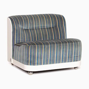 Blue Multi-Colored Striped Fabric Armchair from Cor
