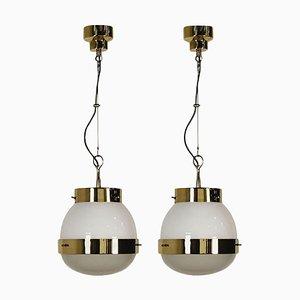 Delta Pendant Lamps by Sergio Mazza for Artemide, 1960s, Set of 2