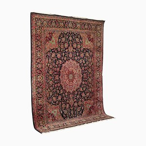 Middle Eastern Cotton and Wool Carpet