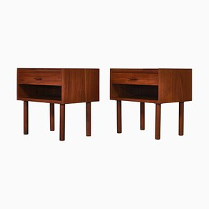 Danish Teak Model 430 Nightstands by Hans J. Wegner for Ry Furniture Factory, 1960s, Set of 2