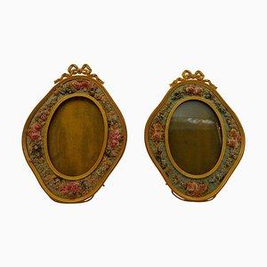 19th Century Gilt Bronze Photo Frames, Set of 2