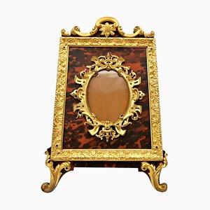19th Century Gilt Bronze Photo Frame