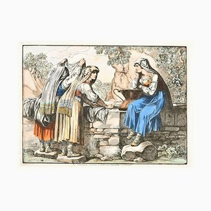 Bartolomeo Pinelli, Ciociare Near Subiaco, 1820, Etching