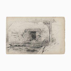 Cottage, 19th Century, Pencil