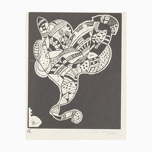 Wassily Kandinsky, Surreal Figure, 1942, Woodcut on Paper