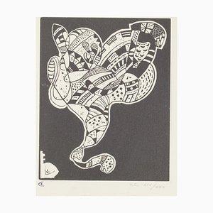 Wassily Kandinsky, surreale Figur, 1942, Holzschnitt auf Papier