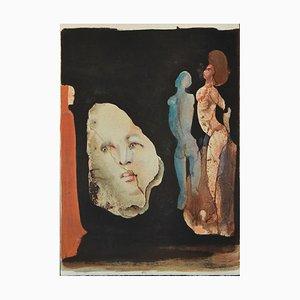 Litografia Leonor Fini, Satyricon, 1970