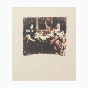 Conversation, 1930s, Lithograph