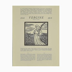 Piero C. Antinori, Capricorn, 20th Century, Woodcut Print