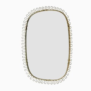 Mid-Century Brass Mirror in the style of Josef Frank for Svenskt Tenn