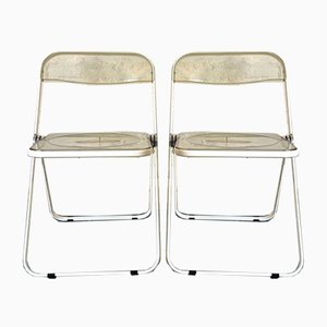 Plia Dining Chairs from Castelli / Anonima Castelli, 1970s, Set of 2