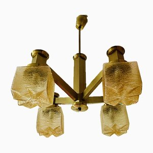 Lámpara de araña serie cubista de Gaetano Sciolari para Sciolari, años 70
