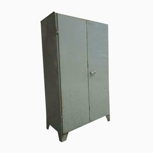 Industrial Grey-Green Cabinet, 1960s