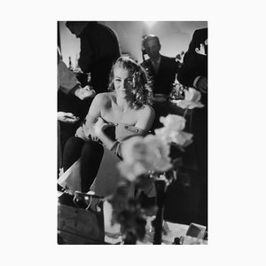 Ekberg Smiles Silver Gelatin Resin Print Framed In White by John Chillingworth