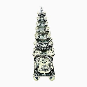 Chinese Enamelled Earthenware Pagoda, 1920s