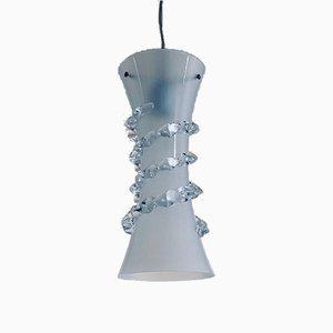 Italienische Vintage Deckenlampe aus Kristallglas von Fuga für Vetrarti, 1992
