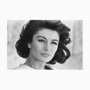 Anouk Aimee Archival Pigment Print Framed In Black by Giancarlo Botti