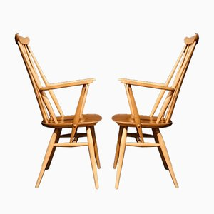Elm Goldsmith Dining Chairs by Lucian Ercolani for Ercol, 1960s, Set of 4