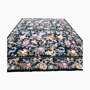 Vintage English Handmade Needlepoint Carpet, 1960s
