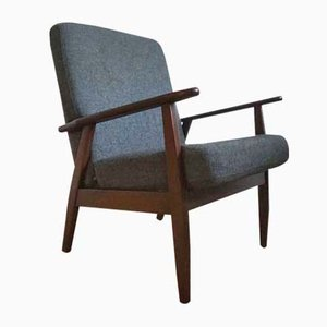 Easy Chair in Dark Stained Oak, 1960s