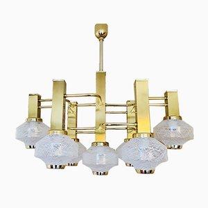 Lámpara de araña de Gaetano Sciolari para Sciolari, años 80