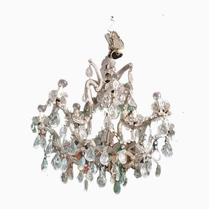 Antique Crystal Chandeliers, Set of 2