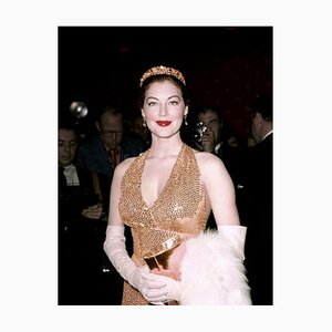 Ravishing Ava At the Premier of Barefoot Contessa Framed In White by Everett Collection