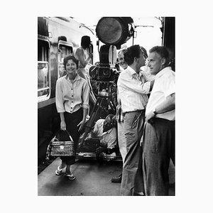 Ava Gardner With Director Stanley Kramer Archival Pigment Print Framed In Black by Everett Collection