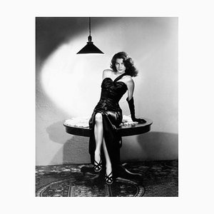 Sultry Ava Archival Pigment Print Framed In Black by Everett Collection