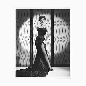 Uber Glamorous Ava Gardner Archival Pigment Print Framed In White by Everett Collection
