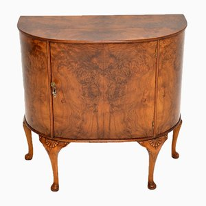 Antique Burr Walnut Cabinet on Legs