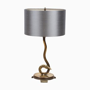 French Snake Table Lamp, 1920s