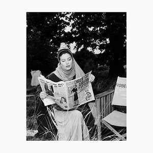 Ava Gardner In Costume On Set Archival Pigment Print Framed In Black by Everett Collection
