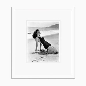 Ava Gardner Soaking Up the Sun Archival Pigment Print Framed In White by Everett Collection