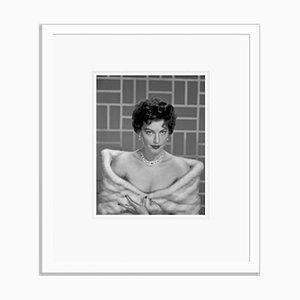Ava Gardner Glamorous Portrait Still Archival Pigment Print Framed In White by Everett Collection