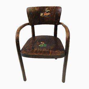 Chaise d'Enfant en Bois Courbé par Michael Thonet pour Gebrüder Thonet Vienna GmbH, 1920s