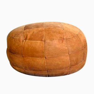 Mid-Century Suede Pouf