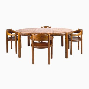 Danish Dining Table & Chairs Set by Rainer Daumiller, 1970s, Set of 5