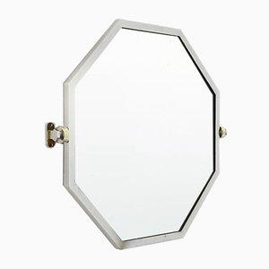 Octagonal Mirror In Chromed Metal, 1930s