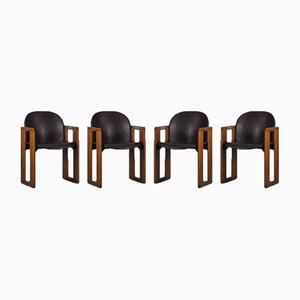 Dialogo Dining Chairs by Tobia & Afra Scarpa for B&B Italia / C&B Italia, 1974, Set of 6