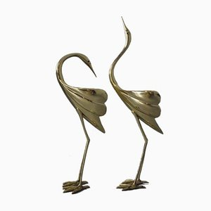 Brass Herons, 1950s, Set of 2
