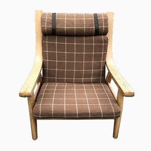 Vintage GE 530 Sessel mit hoher Rückenlehne von Hans J. Wegner für Getama