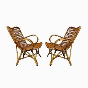 Vintage Rattan Lounge Chair, 1960s