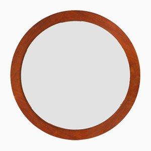 Round Wooden Mirror, 1970s
